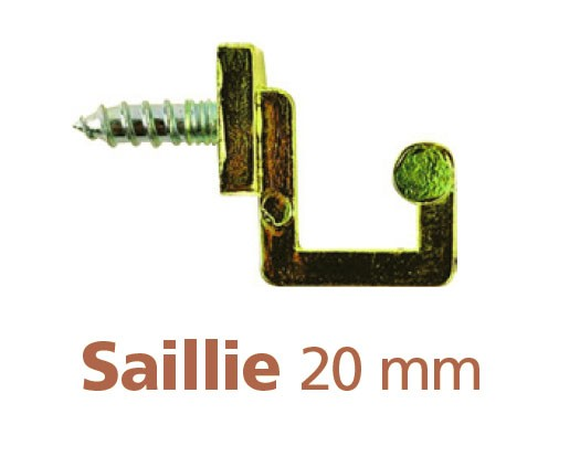 228-Gond à visser saillie 20 mm