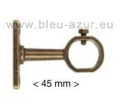 273-Support zamak acier - finition bronze - tube penderie 21x18mm