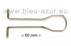 273-Support de milieu acier - finition bronze - tube penderie 21x18 mm