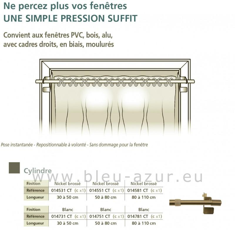 260 tringle pressfix 10mm en blanc pour fen tres pvc. Black Bedroom Furniture Sets. Home Design Ideas